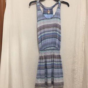 Mossimo gathered waist striped sleeveless dress